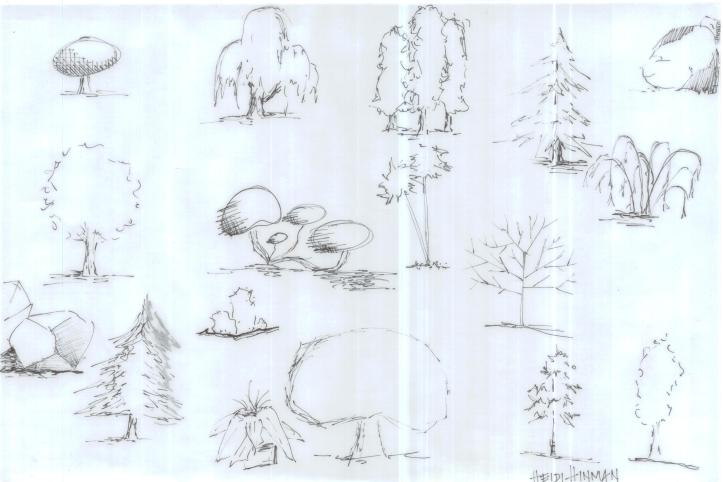 Practice Trees, pen 1